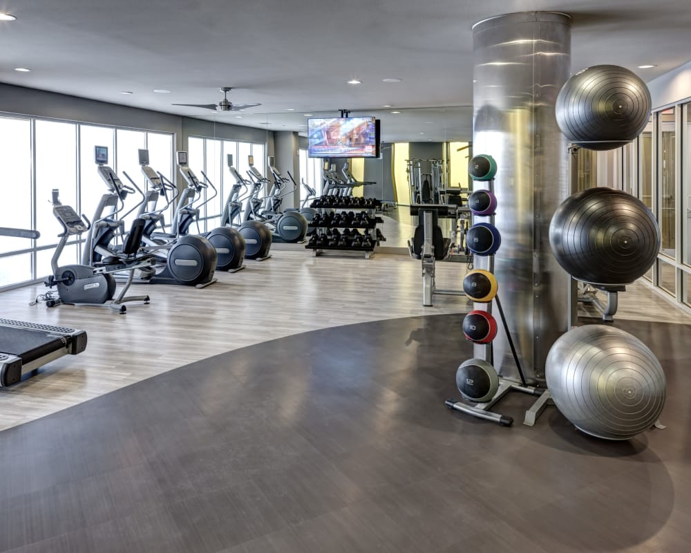 Come work out at Maple District Lofts's fitness center in Dallas, Texas