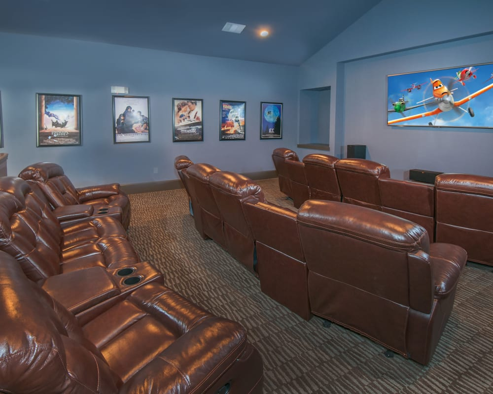 Movie theater at Carrington Oaks in Buda, Texas
