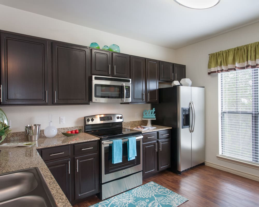 Kitchen at Ethos Apartments in Austin, Texas