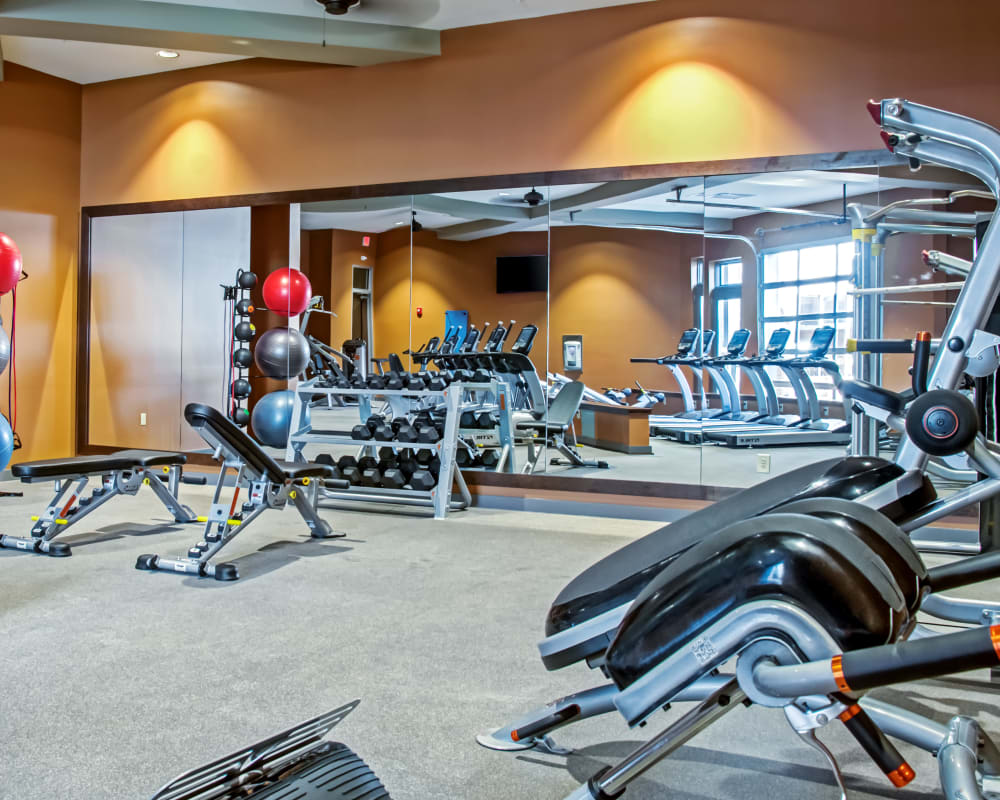 Modern fitness center at Station 40 in Nashville, Tennessee