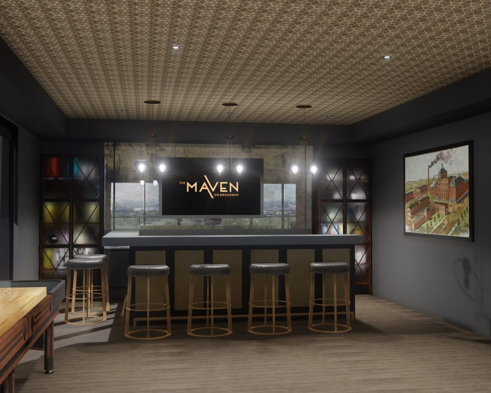 Clubhouse at The Maven on Broadway in Rochester, Minnesota