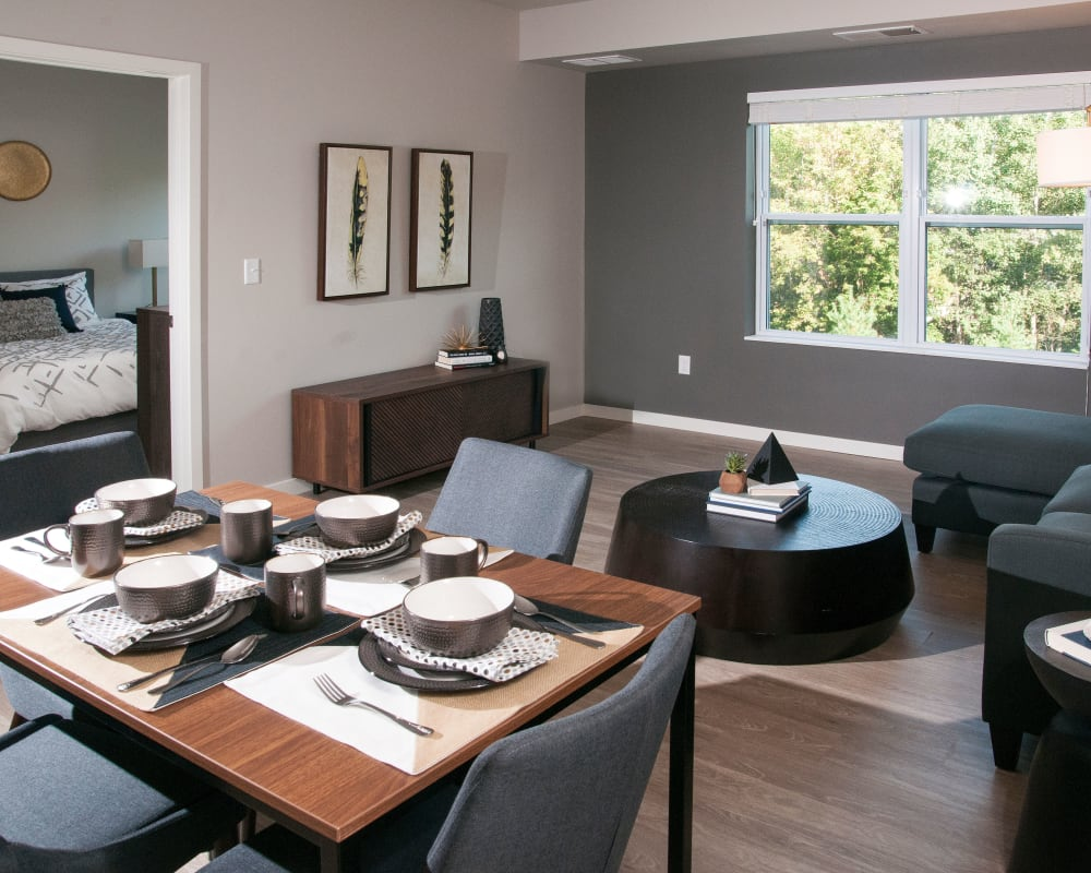Luxury dining and living room at Berkshire Central in Blaine, Minnesota