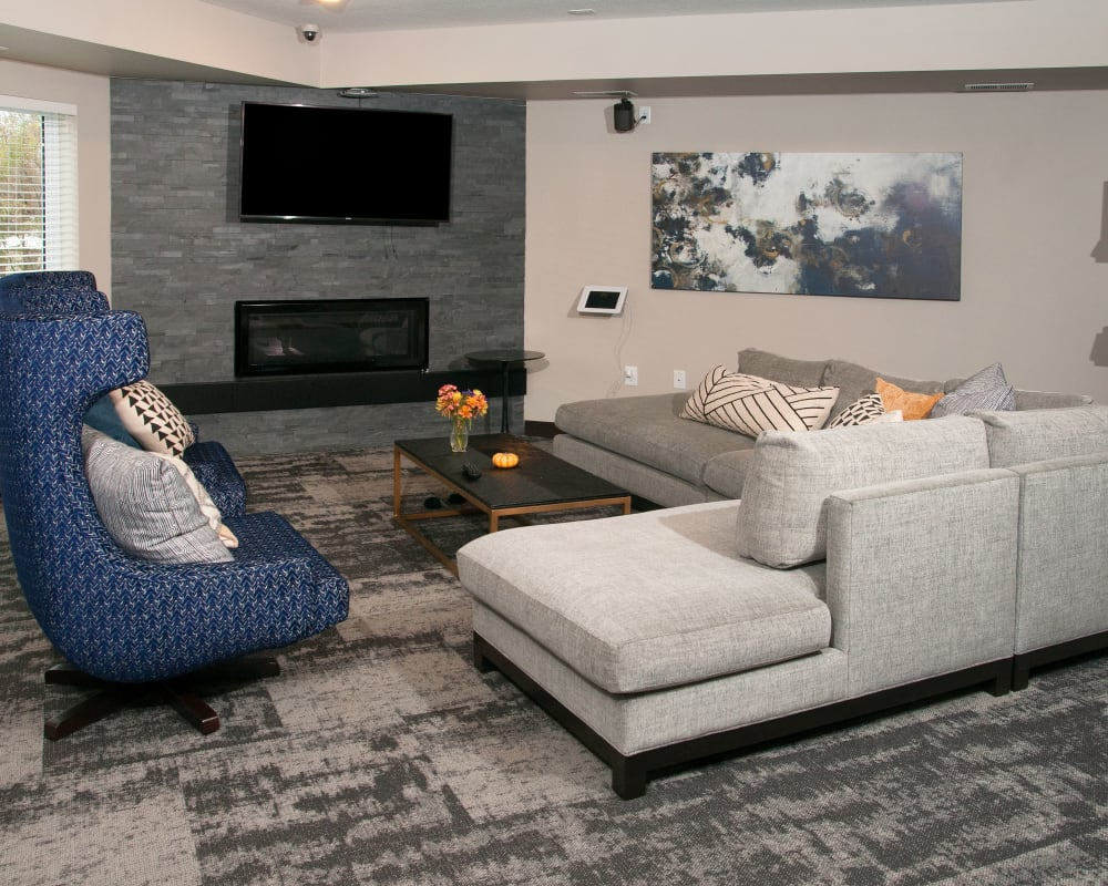 Luxury living room at Berkshire Central in Blaine, Minnesota