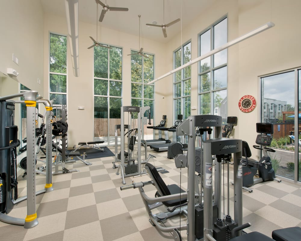 Fitness center at Vargos on the Lake in Houston, Texas