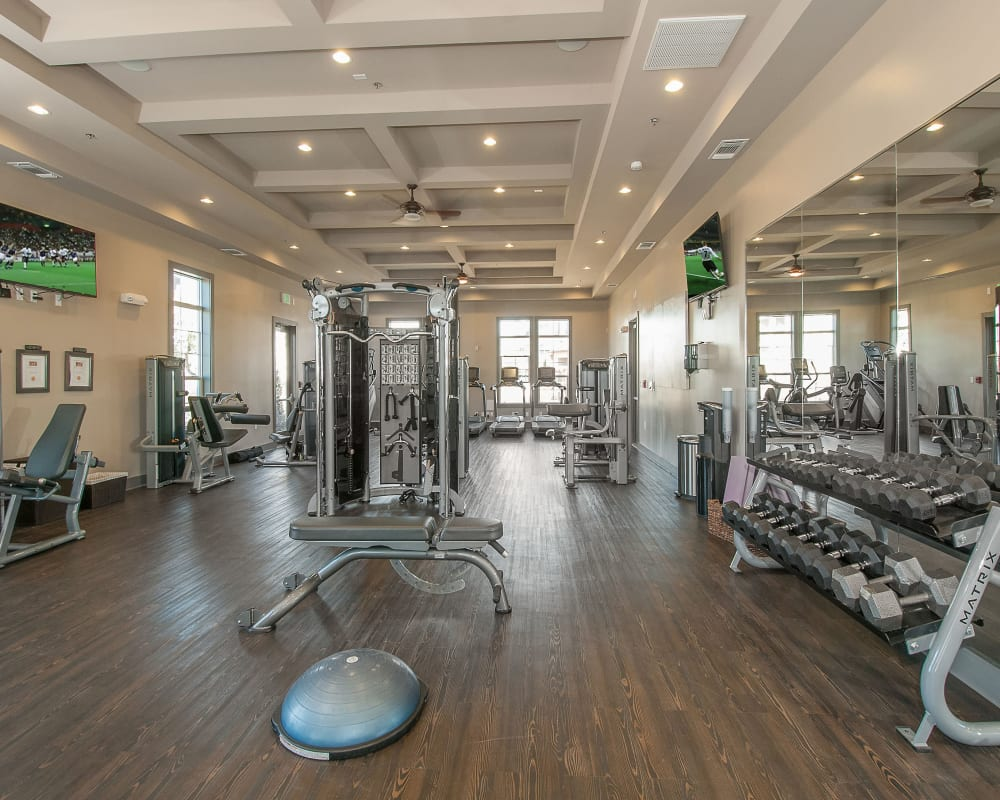 Large fitness center at Wiregrass at Stone Oak in San Antonio,  Texas