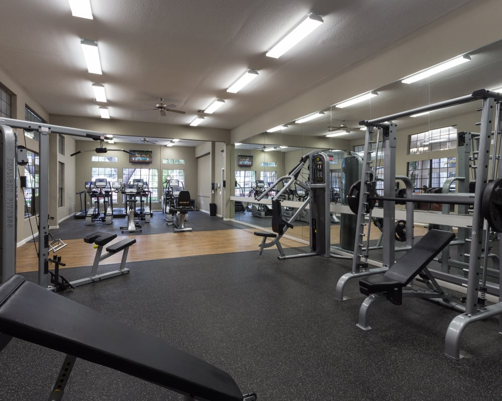Workout room at Greenbriar Park in Houston, Texas