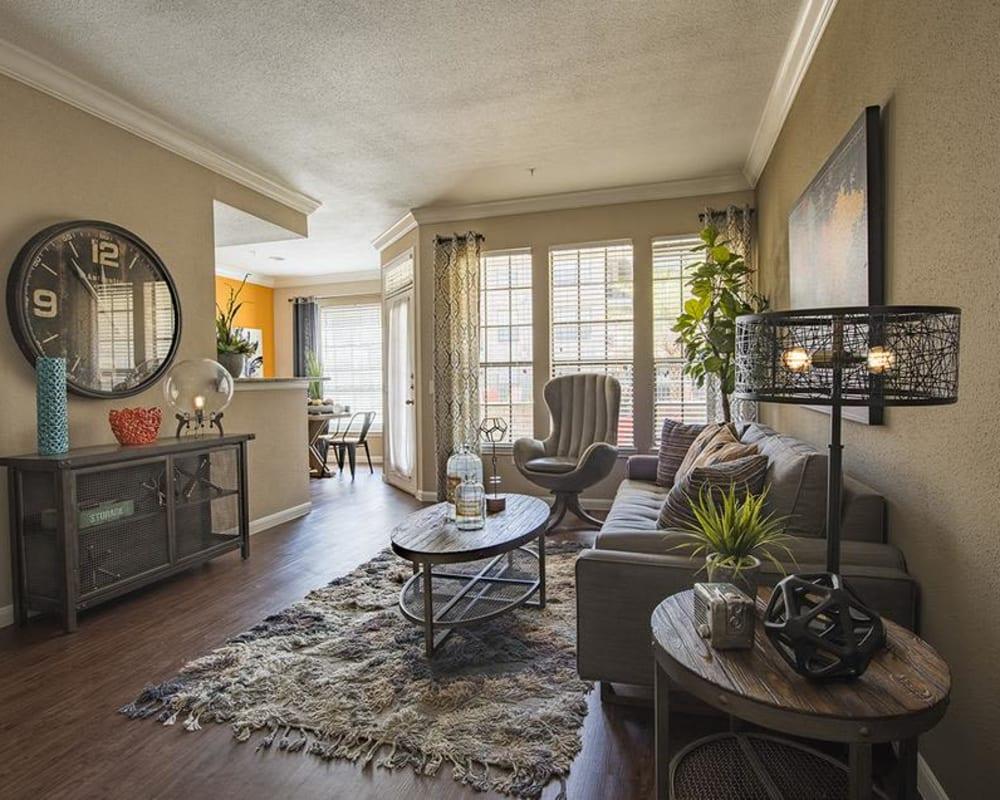 Modern living room at Greenbriar Park in Houston, Texas