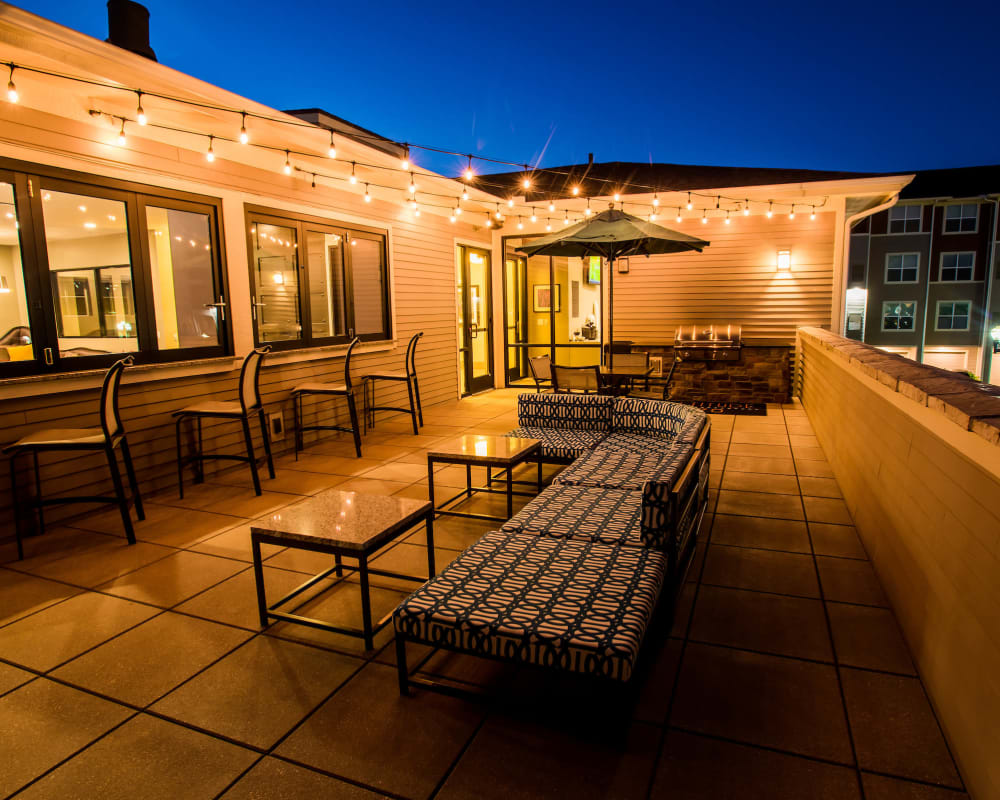 Resident patio at Altitude 970 in Kansas City, Missouri.