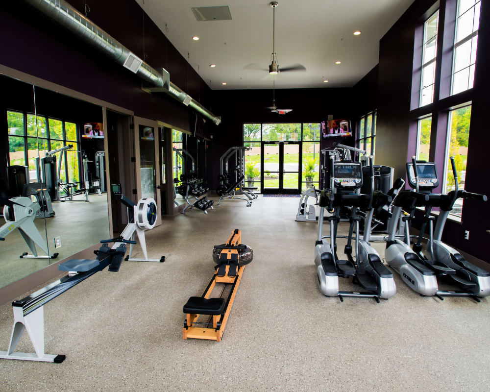 Resident fitness center at Altitude 970 in Kansas City, Missouri.