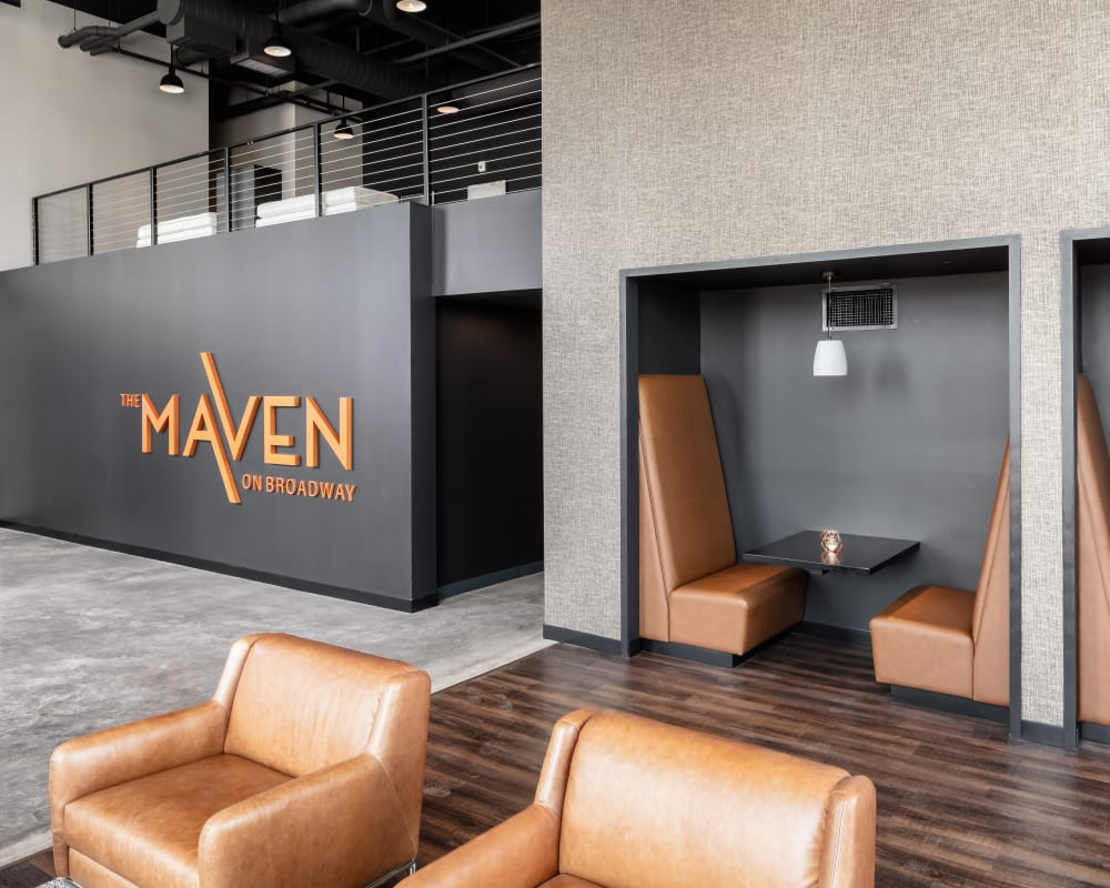 Lobby at The Maven on Broadway in Rochester, Minnesota