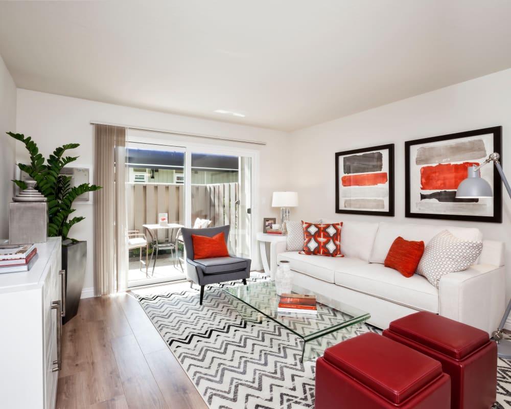 View our floor plans at Halford Gardens Apartments in Santa Clara, California