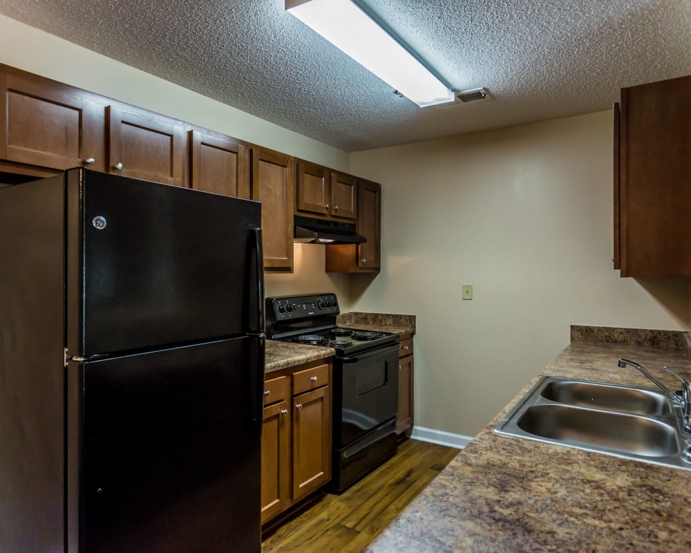 Lots of kitchen cabinet space at Park Ridge Apartments in Jackson, Tennessee