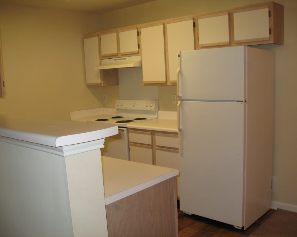 kitchen at Parktowne Apartments in Cleveland, Tennessee