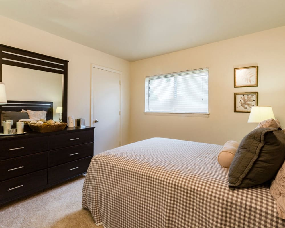 Wonderful master bedroom at Hickory Woods Apartments in Roanoke, Virginia