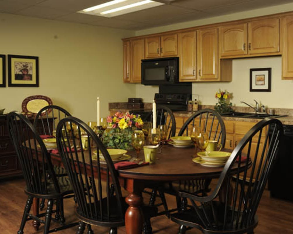 Spacious townhomes are available at Willow Creek Senior Living in Elizabethtown, Kentucky.