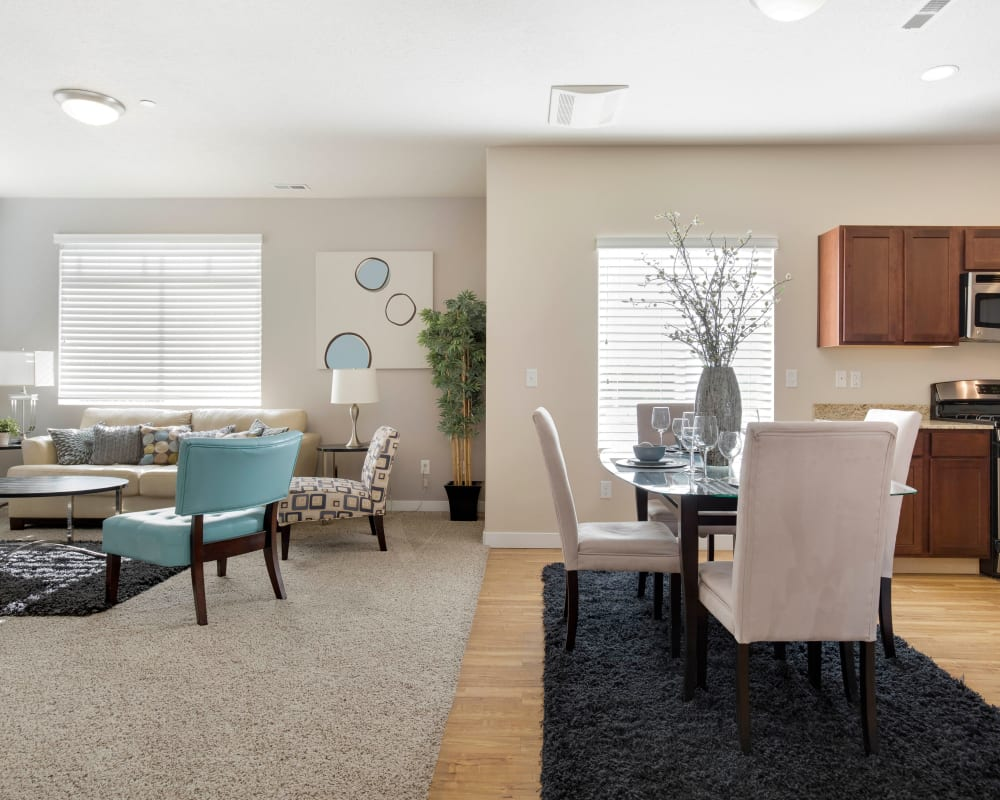 Spacious floor plan of Olympus at the District in South Jordan, Utah