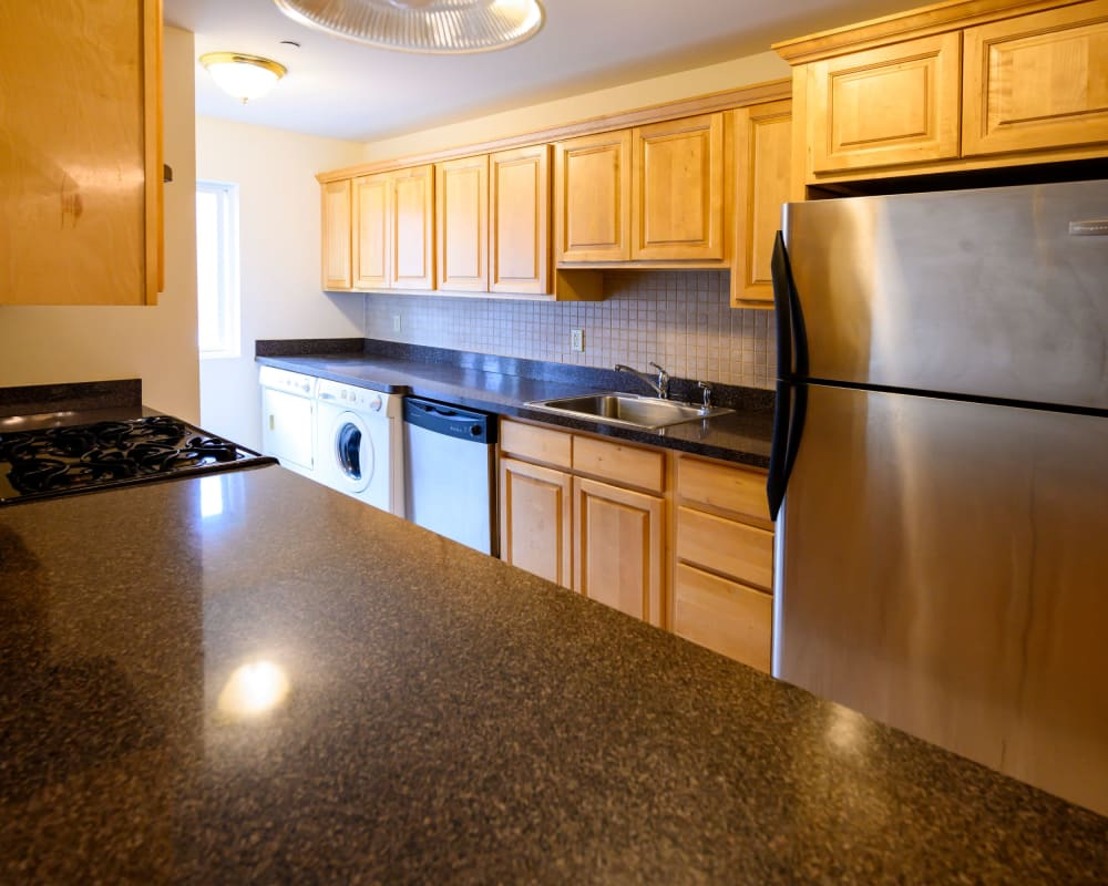 Large kitchen at Rutgers Court Apartments in Belleville, New Jersey