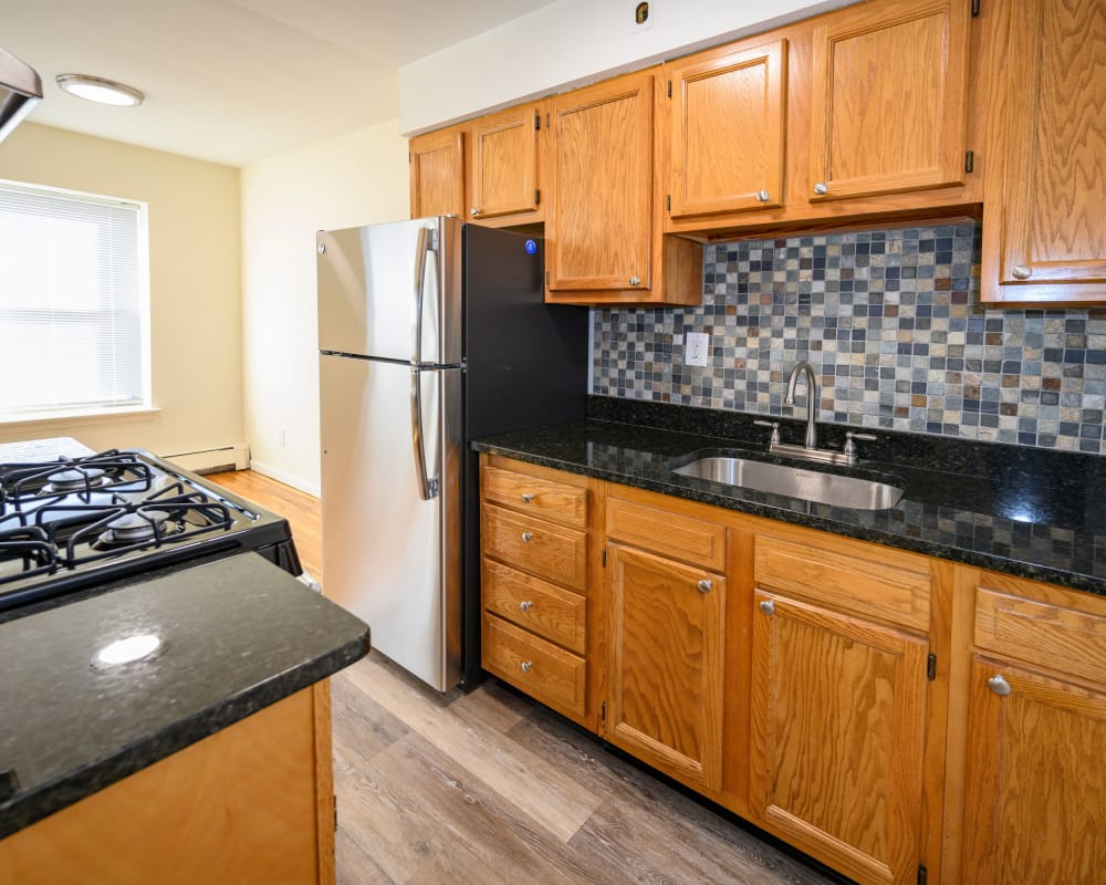 Spacious kitchen at State Gardens in Hackensack, New Jersey