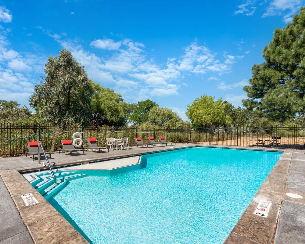 Outdoor pool at Florida Station Apartments in Aurora, Colorado
