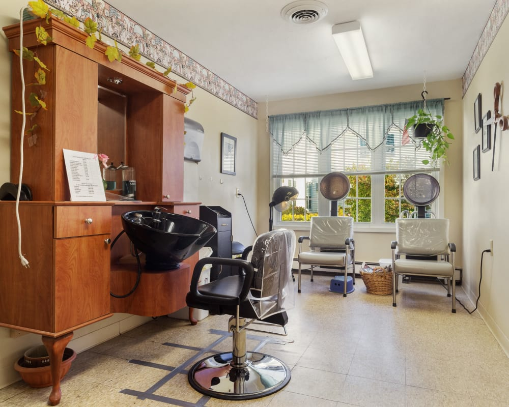 On site hair salon at The Hearth at Greenpoint in Liverpool, New York