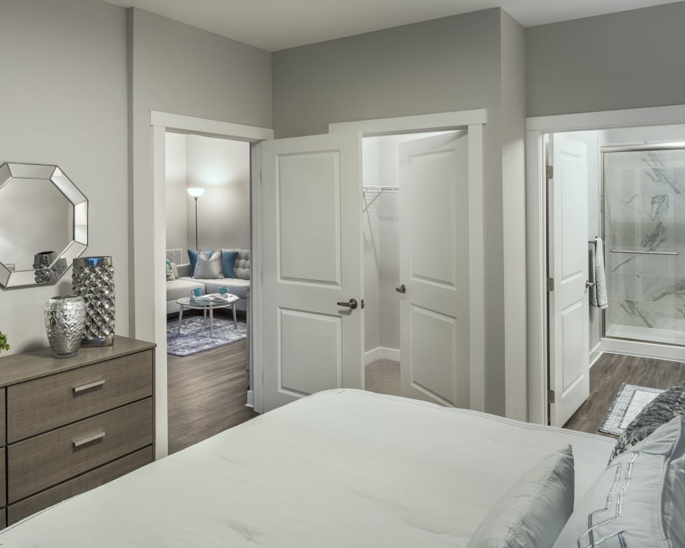 Spacious, cozy bedroom at The Beacon at Gateway in Scarborough, Maine