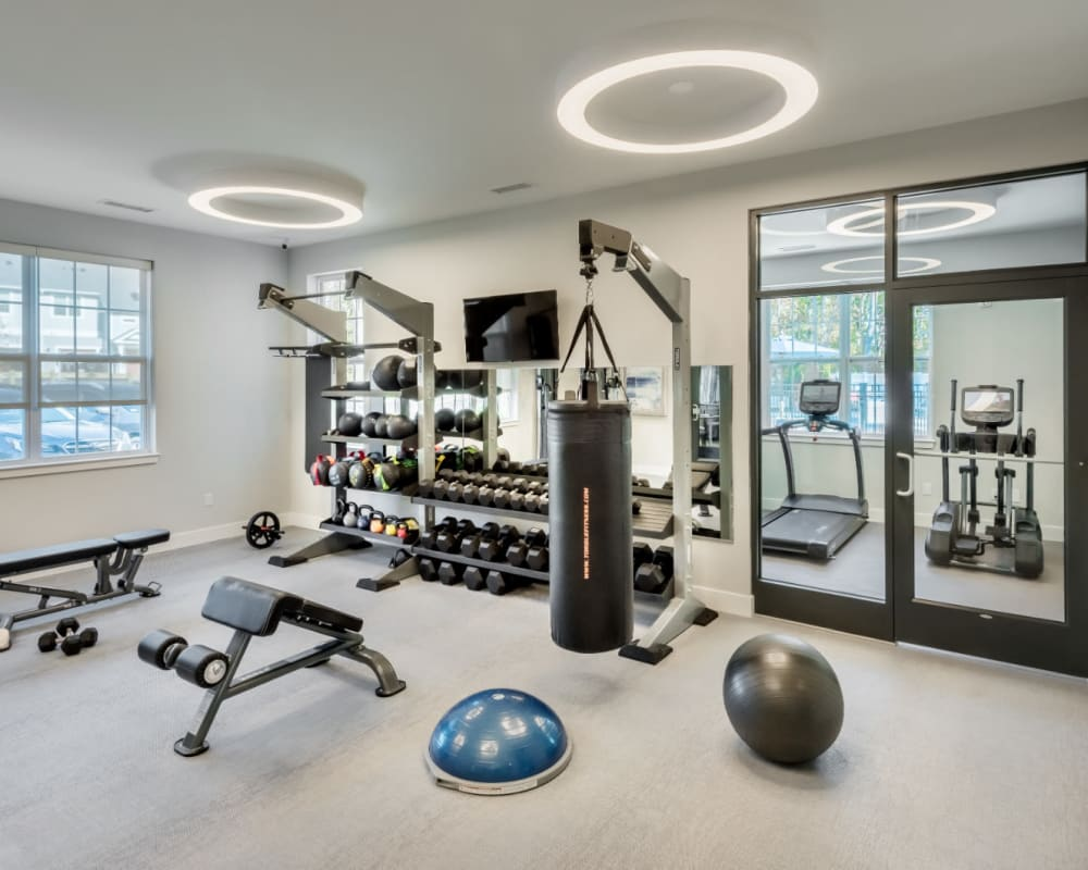 State-of-the-art fitness center at The Cove at Gateway in East Lyme, Connecticut
