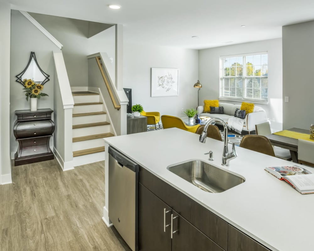 Kitchen with granite counters at The Cove at Gateway in East Lyme, Connecticut