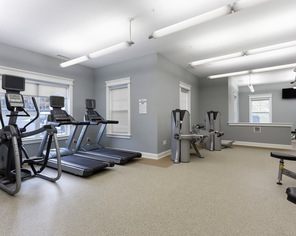 Fitness center at The Sound at Gateway Commons in East Lyme, Connecticut
