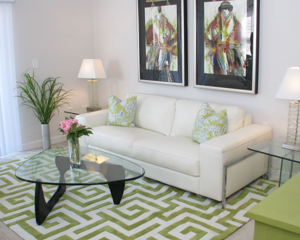 Bright spacious living area at The Sound at Gateway Commons in East Lyme, Connecticut