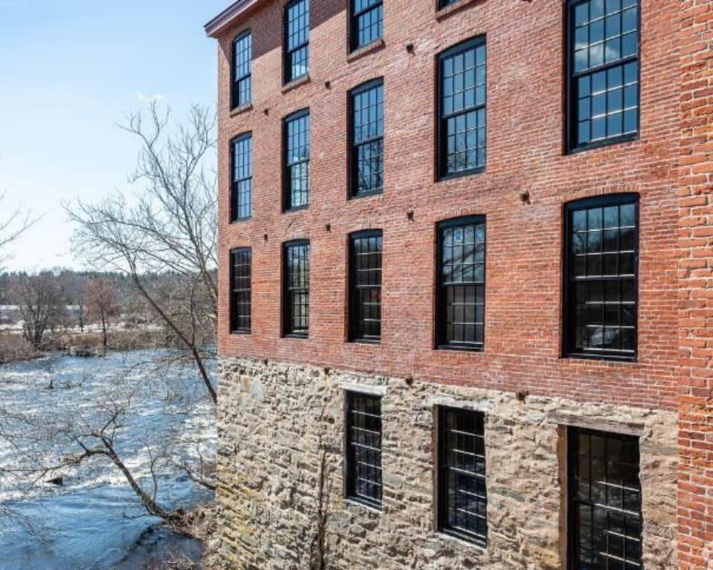 Exterior of Lofts at Cargill Falls Mill in Putnam, Connecticut