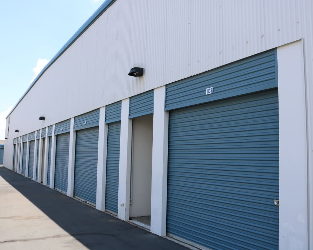 Drive-up storage units at Golden State Storage - Tropicana in Las Vegas, Nevada