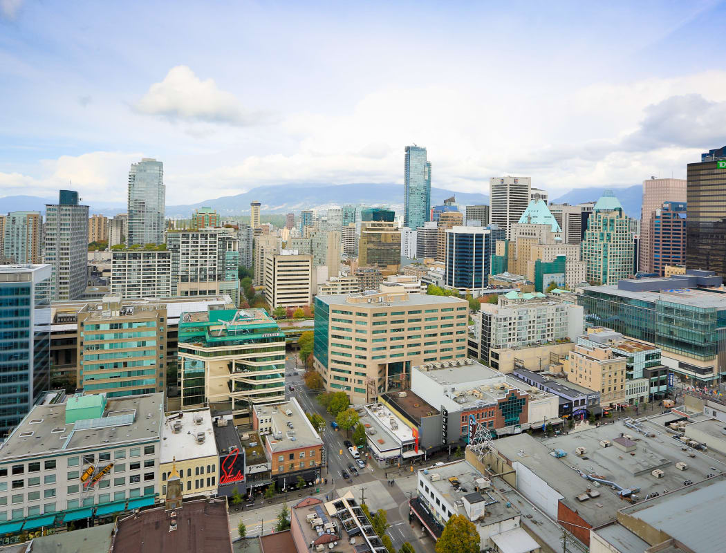 Aerial view from Metropolitan Towers in Vancouver
