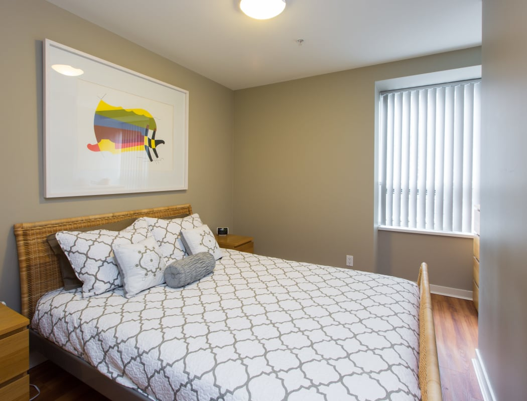 Unique bedroom at Yaletown 939 in Vancouver, British Columbia