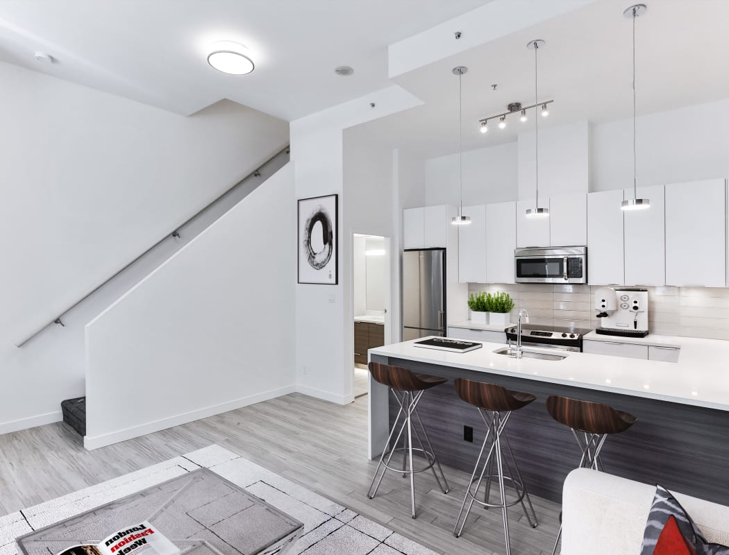 Luxury apartments with stainless-steel appliances at Yaletown 939