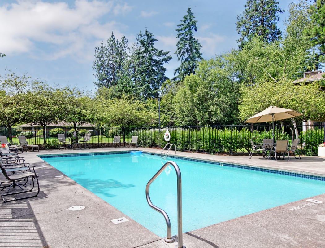 Swimming pool at Jasper Square Apartment Homes in Beaverton, OR