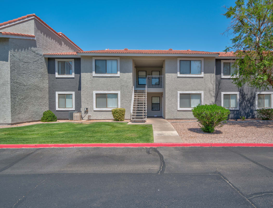 Front view at apartments in Argenta Apartment Homes in Mesa, Arizona