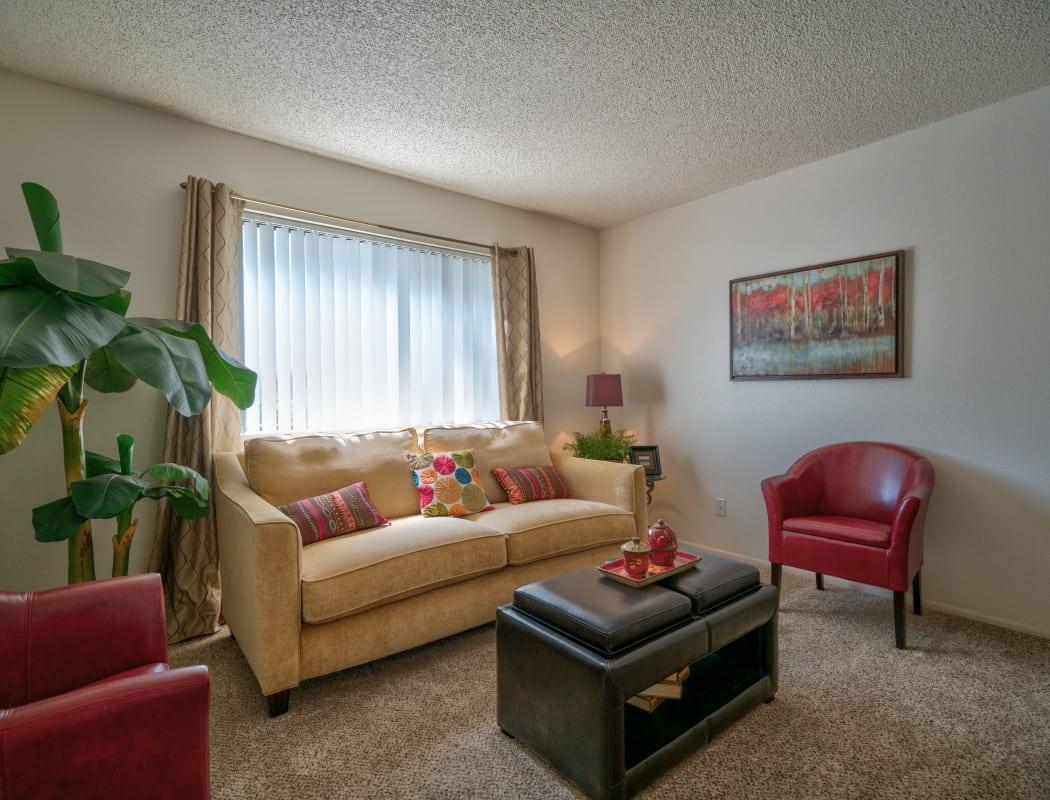 Spacious living room at Argenta Apartment Homes in Mesa, Arizona