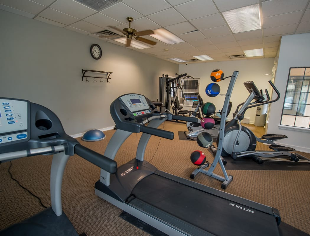 Fitness equipment at Council Place Apartments in Oklahoma City, Oklahoma