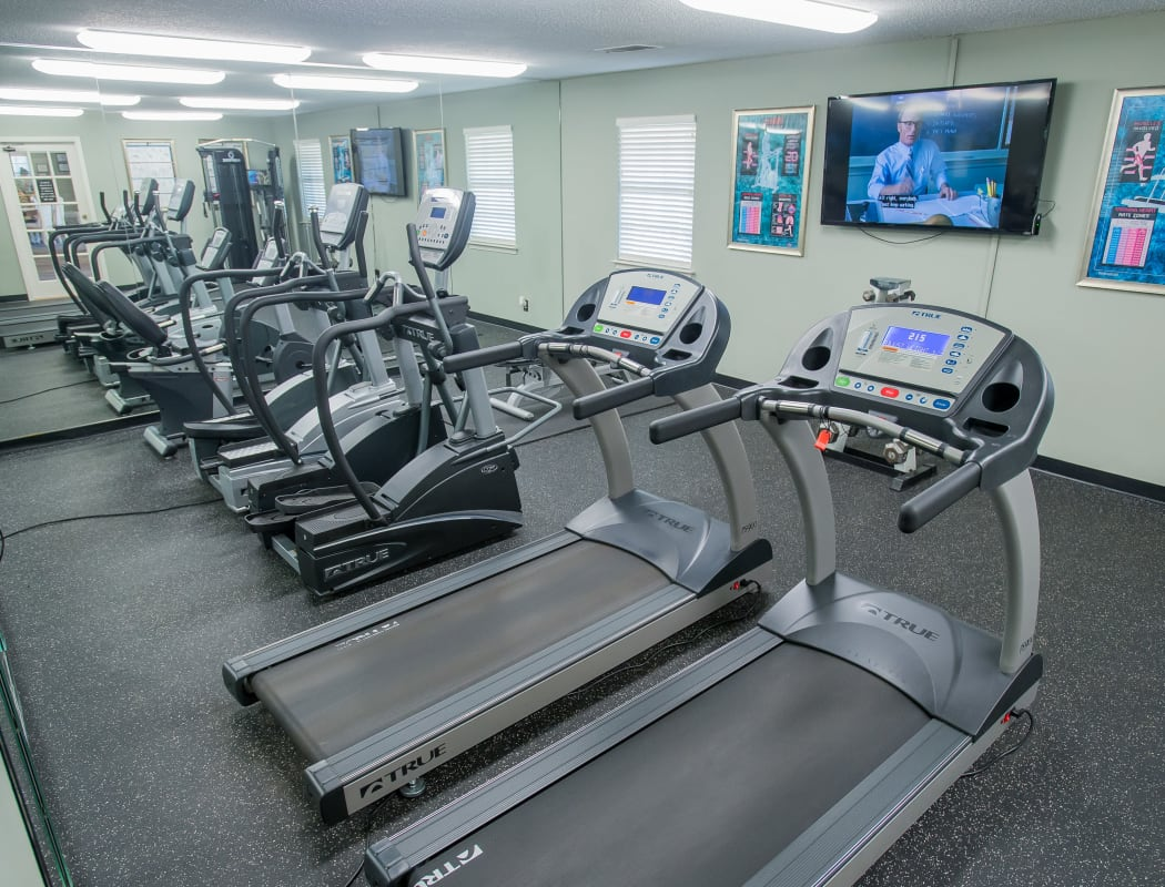 Fitness center for resident use at The Greens of Bedford in Tulsa, Oklahoma