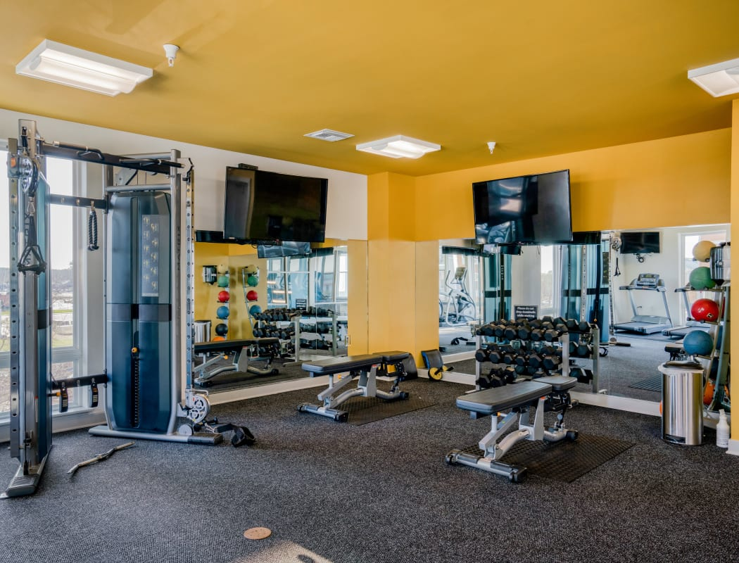 Indigo 19's fitness center in Virginia Beach, Virginia