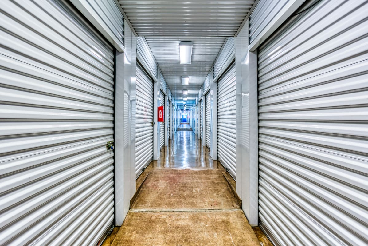Climate-controlled storage units at Devon Self Storage in Sherman, Texas