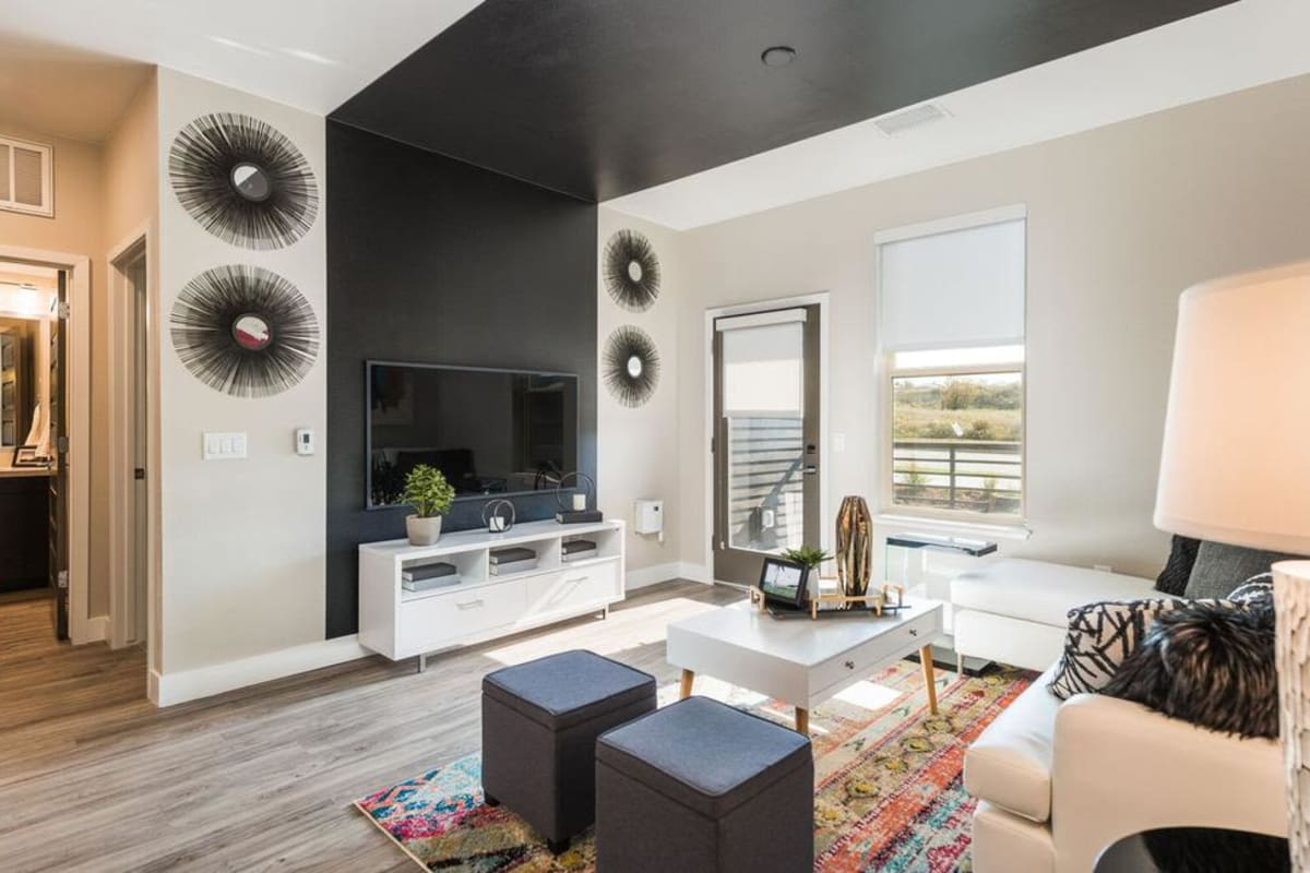 Beautiful Living Room at Solana Lucent Station in Highlands Ranch, Colorado