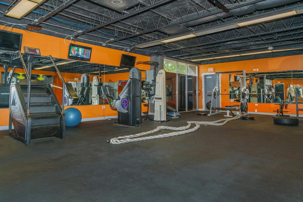 Urban Flats fitness center with weights and stairmaster