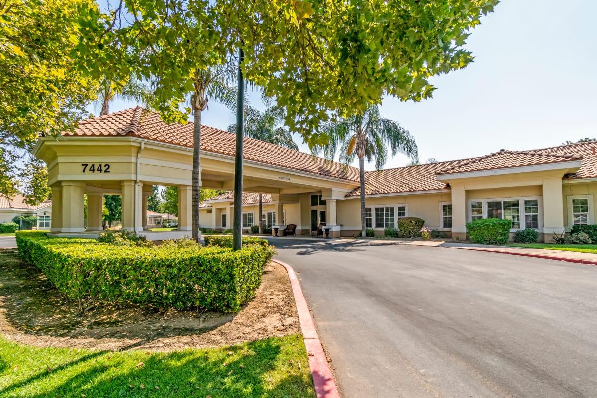Entrance to Cottonwood Court in Fresno, California