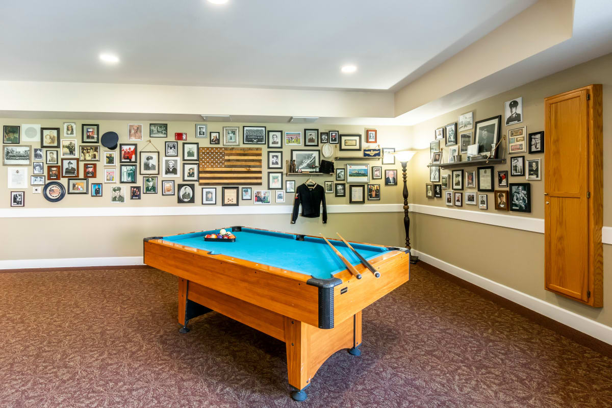 Pool table at Westmont of Fresno in California