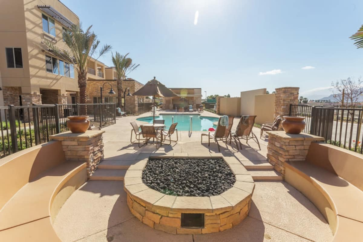 The pool at The Palms at LaQuinta Gracious Retirement Living in La Quinta, California