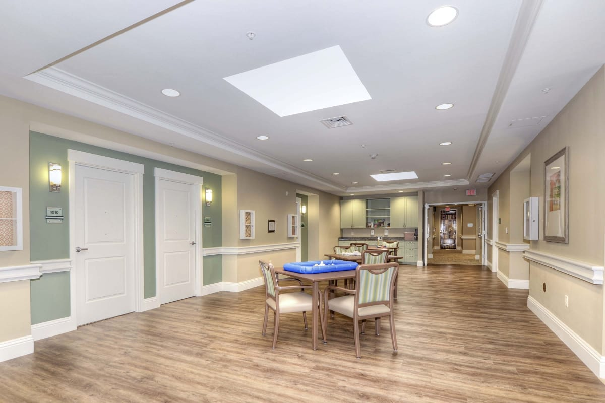 Memory care lounge at Beach House Assisted Living & Memory Care Naples in Naples, Florida