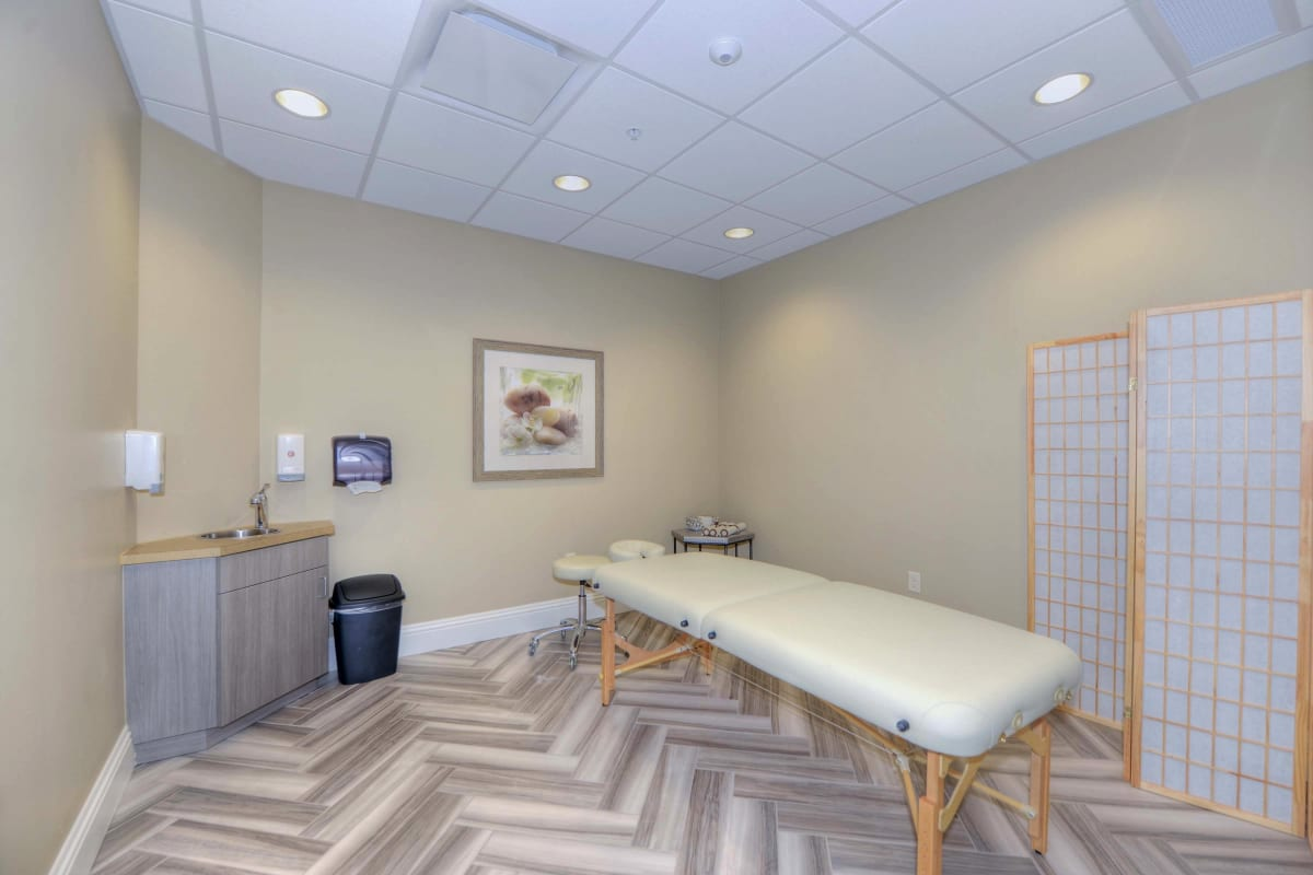 Massage Therapy room at Beach House Assisted Living & Memory Care in Naples, Florida