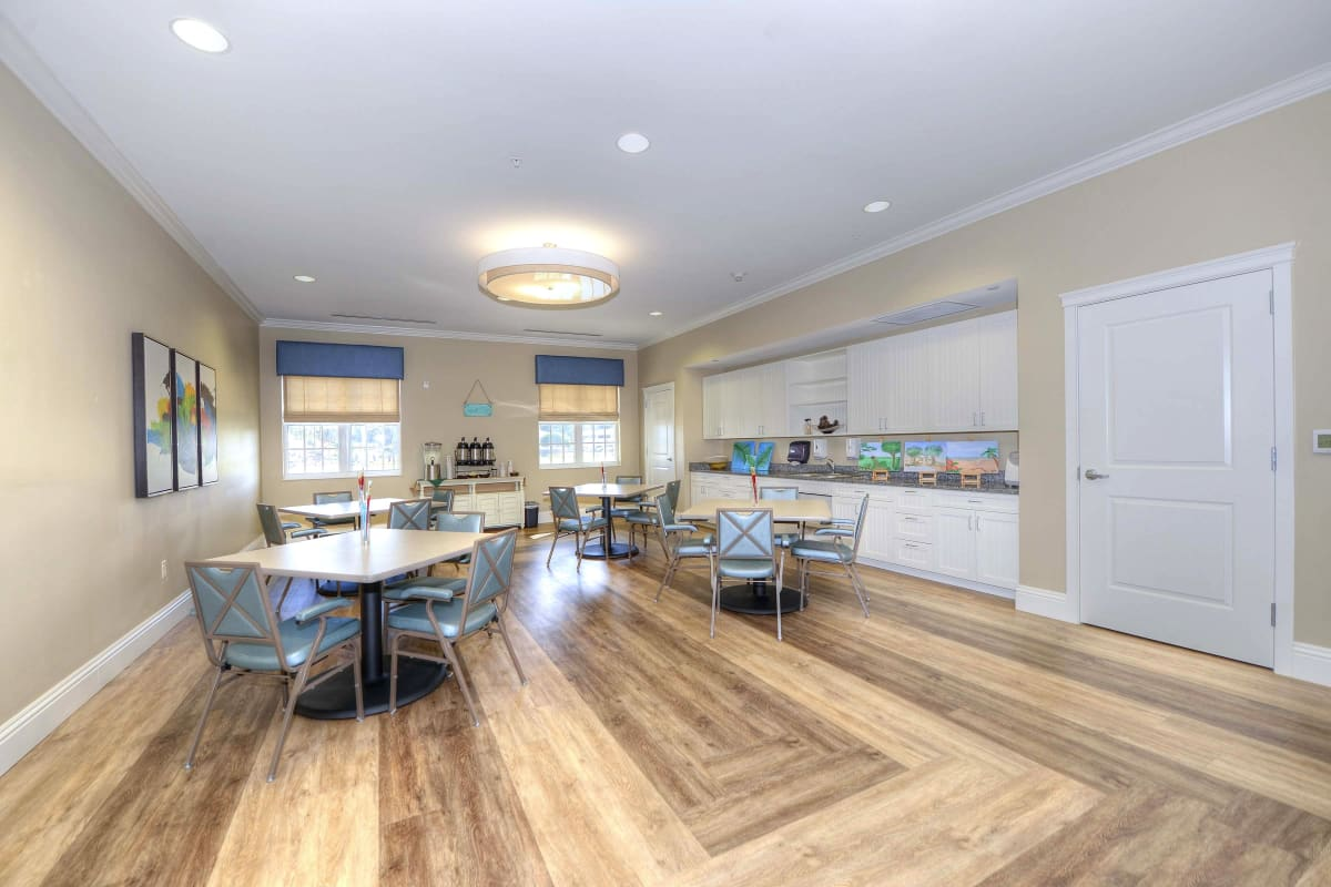 Craft Room at Beach House Assisted Living & Memory Care Naples in Naples, Florida