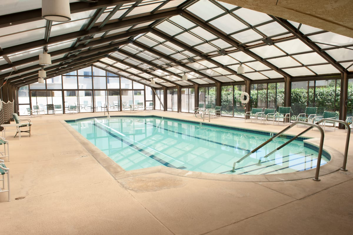 Indoor pool at Westmont Village in Riverside, California